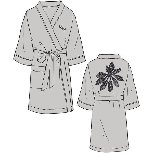 Lords & Lilies Kimono Badjas - glacier gray